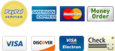We accept PayPal, Visa, Mastercard and others