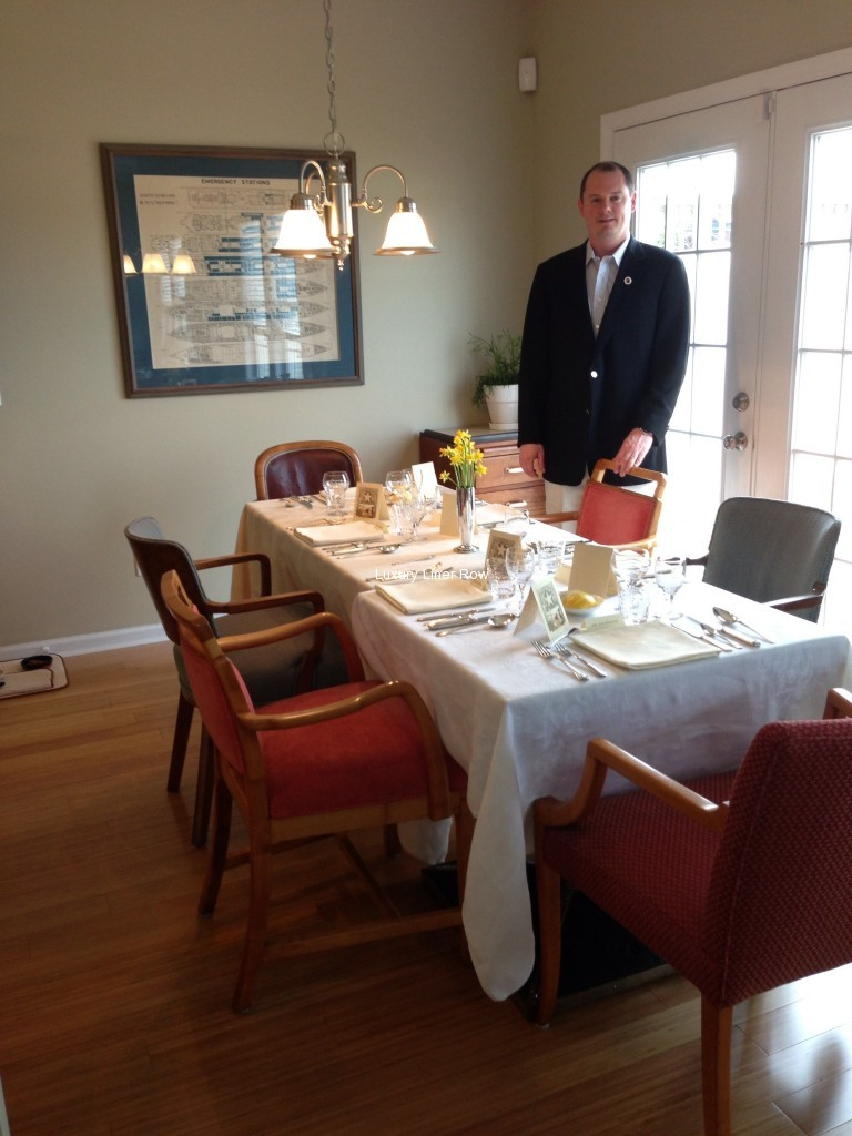 last dinner on titanic luxury liner row brian hawley with the table set for the titanic dinner