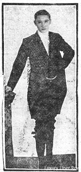 A previously unknown photo of Edwin Wheeler in his footman's livery that was discovered by us while researching this article.