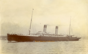 The White Star liner Majestic of 1889, the ship that first brought Wheeler to the United States.