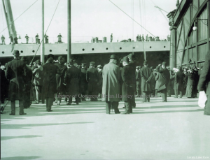 Olympic arriving in New York on April 10, 1912.