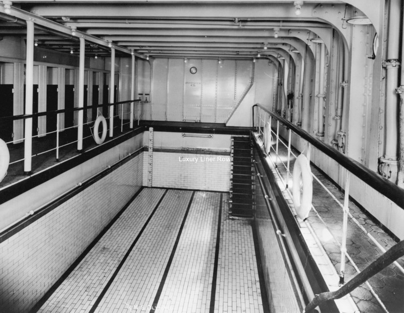 Rms Olympic Tile First Class Swimming Pool Bathroom